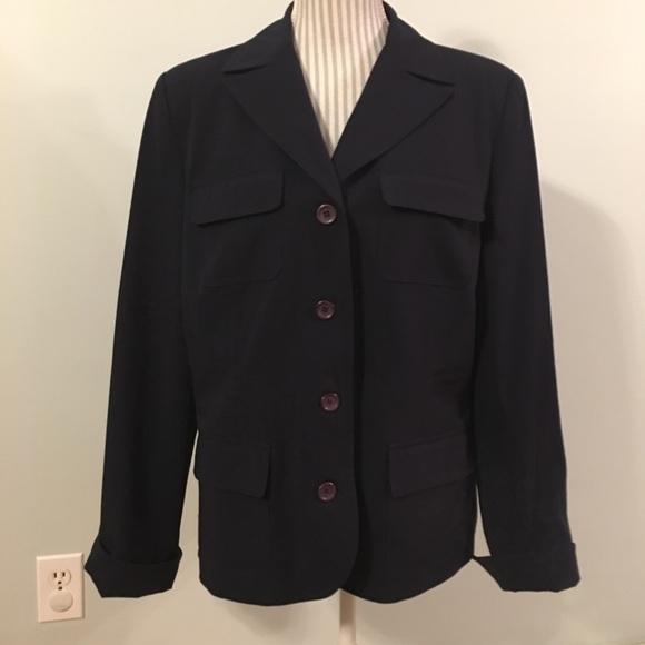 Josephine Chaus Navy Blazer Size 14